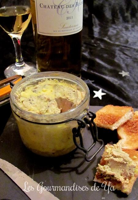 bocaux de foie gras au sauterne les gourmandises de ya. Black Bedroom Furniture Sets. Home Design Ideas