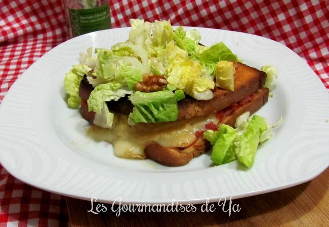 Croque monsieur ch vre jambon basilic et noix les - Sachet cuisson croque monsieur grille pain ...